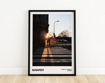 Budapest art, Travel city poster, Gift from Hungary, Street photography, Budapest wall decor, Travel photography,