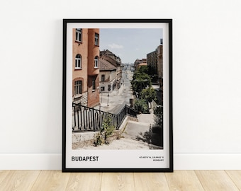 Budapest wall art, Travel city poster, Gift from Hungary, Street photography, Budapest print, Travel photography