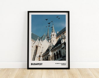 Budapest wall art, Travel city poster, Gift from Hungary, Architecture print, Budapest poster, Travel photography
