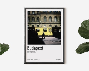 Budapest travel poster, Gift art from Hungary, Street photography print, Budapest home decor, Travel photography