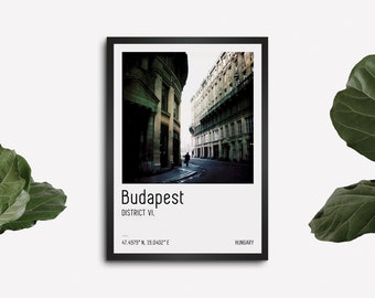 Budapest art print, City travel poster, Gift from Hungary, Street photography, Budapest wall art, Europe cityscape
