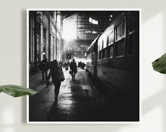 Noir Style Poster, Black and White, Budapest Noir, Street Photography, Europe Travel Gift, Office Decoration, Budapest Photography