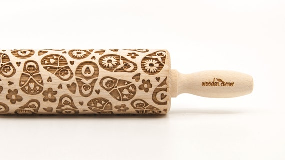 MATRYOSHKA RUSSIAN DOLL 2 - Embossing Rolling pin, engraved rolling pin (no. 254)