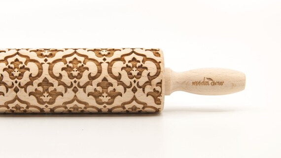 VICTORIAN STYLE 3 - Embossing Rolling pin, engraved rolling pin (no. 197)