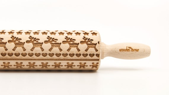 NORTH LAND 12 - Embossing Rolling pin, engraved rolling pin (no. 309)