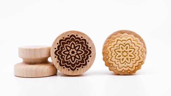 No. 054 Wooden stamp deeply engraved mosaic, Morocco, Christmas gift, Wooden Toys, Stamp, Baking Gift, mandala, kaleidoscope