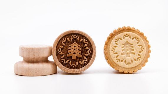 "No. 011 Wooden stamp deeply engraved ""Christmas tree 2"""