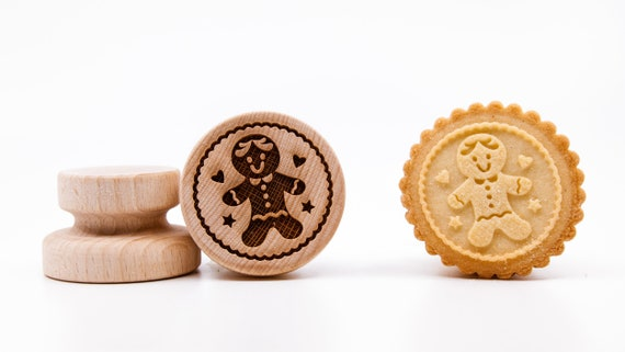 """No. 012 Wooden stamp deeply engraved """" Gingerbread Man"""""""