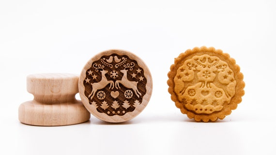 """No. 035 Wooden stamp deeply engraved """"Merry Christmas"""""""