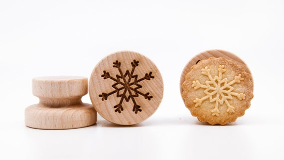 No. 055 Wooden stamp deeply engraved Snowflake, Merry Christmas, Christmas gift, Wooden Toys, Stamp, Baking Gift, Christmas tree
