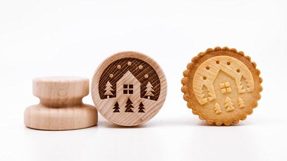 """No. 009 Wooden stamp deeply engraved """"Winter landscape"""""""