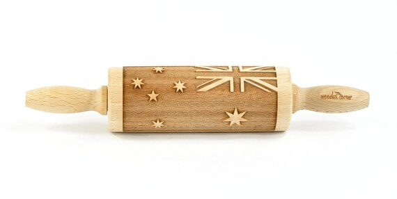 Australia Day - MINI Embossing Rolling pin , engraved rolling pin