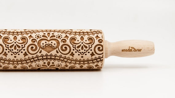 BOHO-CHIC STYLE 3,  rolling pin, Embossed rolling pin, Engraved rolling pin