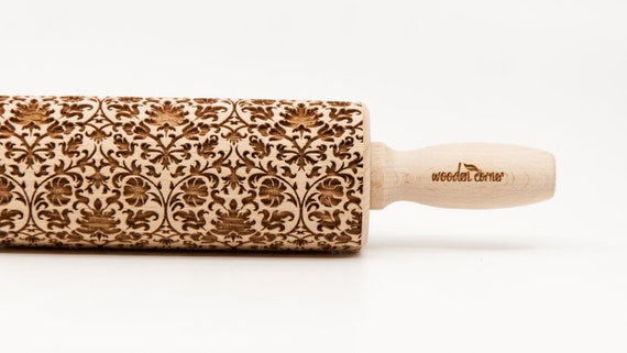 No. R147 VICTORIAN STYLE pattern, Rolling Pin Engraved Rolling Pin Gift Rolling Pin Rolling PiN for Embossed Cookies Wooden Rolling pin