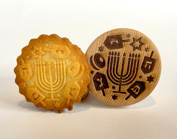 No. 037 Wooden stamp deeply engraved Hanukkah