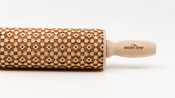 ALHAMBRA 4 ANDALUSIA, Rolling Pin, Engraved Rolling, Embossed rolling pin, Wooden Rolling pin