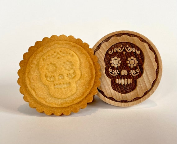 No. 040 Wooden stamp deeply engraved,  Día de Muertos