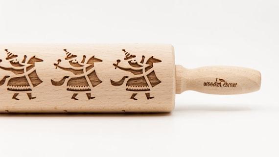 CRACOW LAJKONIK pattern, Rolling Pin, Engraved Rolling, Rolling Pin, Embossed rolling pin, Wooden Rolling pin   TAGI: