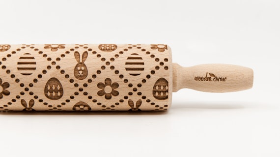 EASTER - Embossing Rolling pin, engraved rolling pin