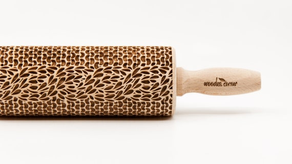 BRAID SWEATER pattern, Rolling Pin, Engraved Rolling, Rolling Pin, Embossed rolling pin, Wooden Rolling pin