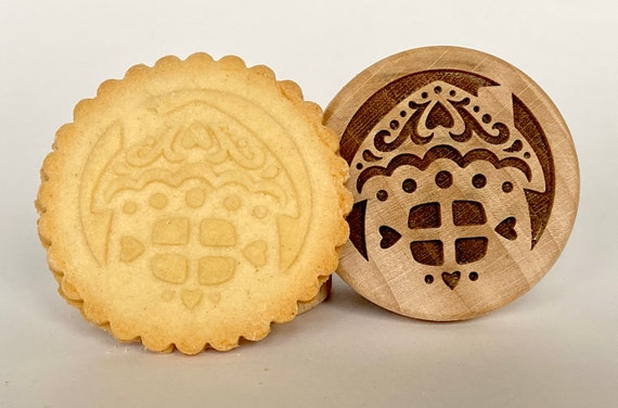 No. 008 Wooden stamp deeply engraved Gingerbread house, Christmas gift, Wooden Toys, Stamp, Baking Gift, Christmas tree, fairy-tale house