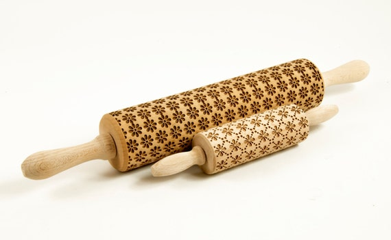 CHOOSE 2 of all our patterns - Set of Big size and MIDI rolling pins