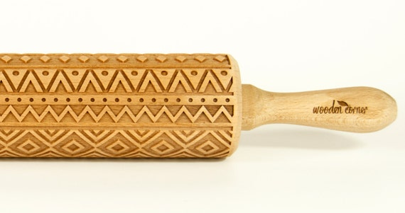 Indian Rolling Pin Engraved Rolling Pin Embossed Rolling Pin Wooden Rolling pin