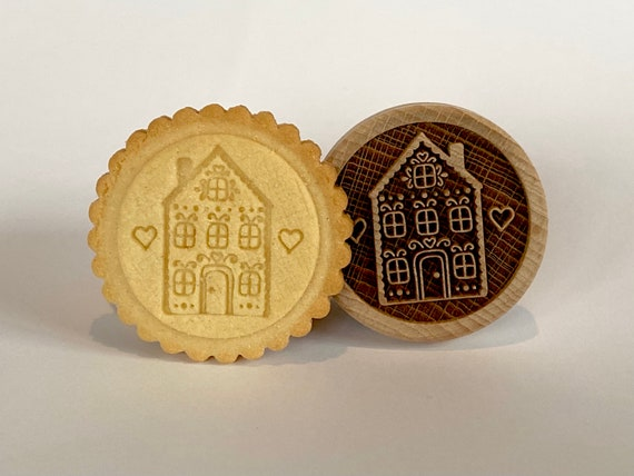 "No. 022 Wooden stamp deeply engraved ""Fairy-tale house 4"""