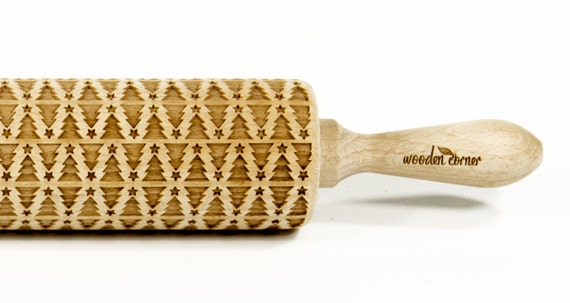 Christmas tree - Big size Rolling Pin Engraved Rolling Pin, Rolling Pin, Embossed Cookies, Wooden Rolling pin
