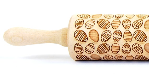 Happy Easter 2 - Embossing Rolling pin, engraved rolling pin