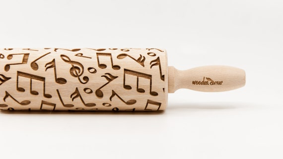 MY TUNE - Rolling Pin, Engraved Rolling Pin, Rolling Pin, Embossed Cookies, Wooden rolling pin