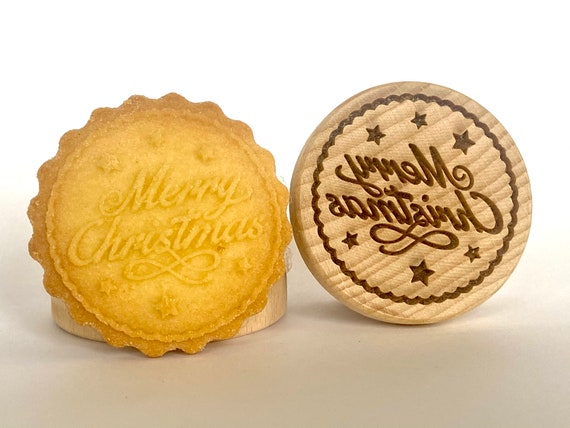 No. 001 Wooden stamp deeply engraved Merry Christmas, Christmas gift, Wooden Toys, Stamp, Baking Gift, Christmas tree,