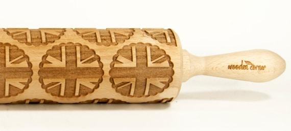 United Kingdom of Great Britain UK cookies  Embossing rolling pin, Engraved Rolling Pin, Embossed Rolling Pin, Wooden Rolling pin