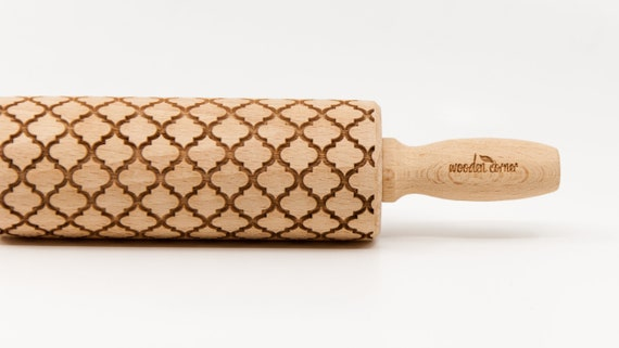 ALHAMBRA 3 ANDALUSIA, Rolling Pin, Engraved Rolling, Embossed rolling pin, Wooden Rolling pin