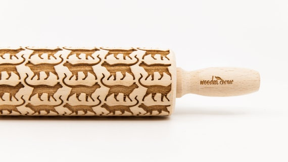 CATS No. 1  Embossing rolling pin Engraved rolling pin
