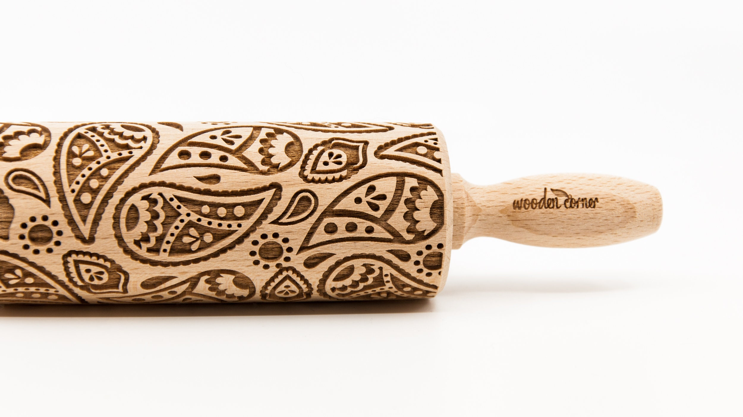 Paisley Pattern Rolling Pin Engraved Rolling Rolling Pin
