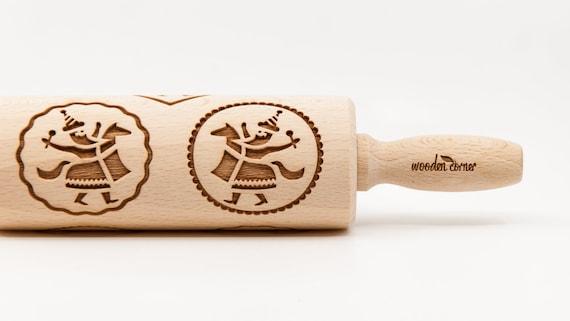 CRACOW LAJKONIK 2 pattern, Rolling Pin, Engraved Rolling, Rolling Pin, Embossed rolling pin, Wooden Rolling pin