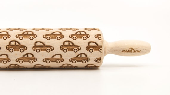 CAR pattern-  Embossing Rolling pin, engraved rolling pin (no. 110)