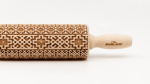 ALHAMBRA 2 ANDALUSIA  -  Rolling Pin, Engraved Rolling, Rolling Pin, Embossed rolling pin, Wooden Rolling pin, Kids' toys