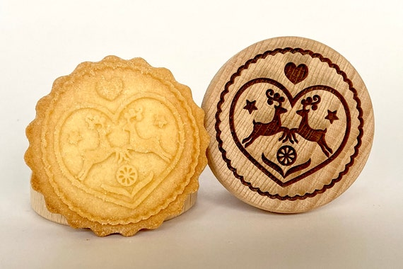 No. 005 Wooden stamp deeply engraved Merry Christmas, Christmas gift, Wooden Toys, Stamp, Baking Gift, Christmas tree