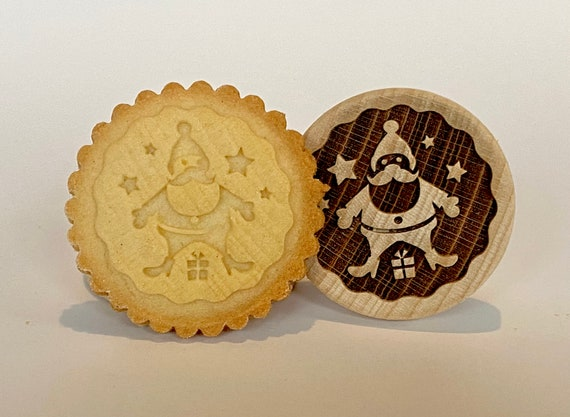 "No. 017 Wooden stamp deeply engraved ""Santa Claus"""