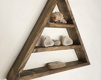 Triangle Altar, Altar Shelf, Crystal Storage, Altar Wall, Altar Space,  Triangle Shelf, Crystal Storage, Altar, Gem Shelf, Lovelifewood