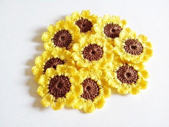 10 Zonnebloemen Haak Voor Toepassingen Instellen Van 10 Etsy