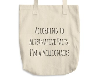 Alternative Facts Tote Bag, Funny Trump Parody Tote, Funny Tote Bag, Typography Tote Bag, Political Tote, Anti Trump Tote Bag, Quote Bag
