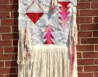 Surface Tension Woven Wall Hanging // Tapestry // Weaving // Boho Style