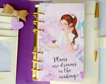 Plans Are Dreams In The Making Personal, A5, A6, B6 & Pocket Size Planner Dashboard