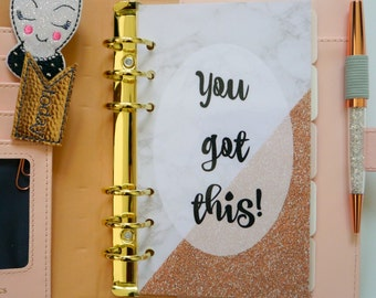 You Got This! Personal, A5, A6, B6 & Pocket Size Planner Dashboards
