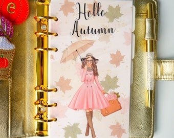 Hello Autumn Personal, A5, A6, B6 & Pocket Planner Dashboard
