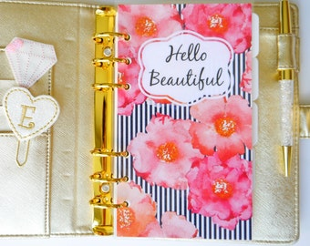 Hello Beautiful Personal, A5, A6, B6 & Pocket Size Planner Dashboard