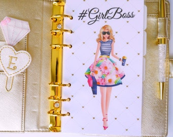 Girl Boss Personal, A5, A6, B6 & Pocket Size Planner Dashboard